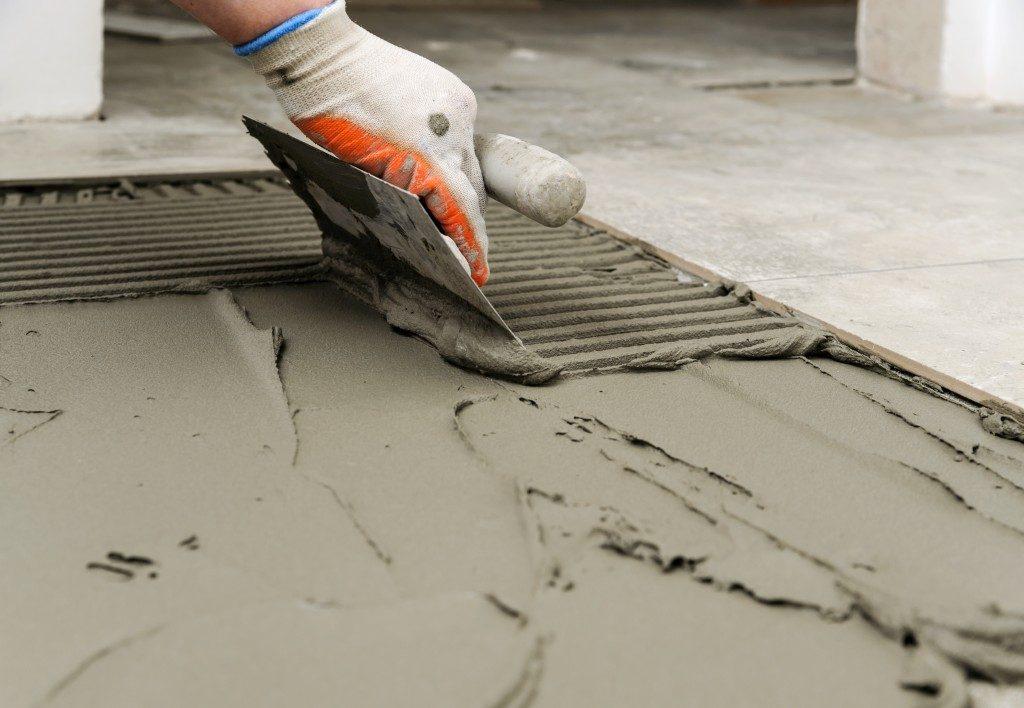 Concrete flooring construction