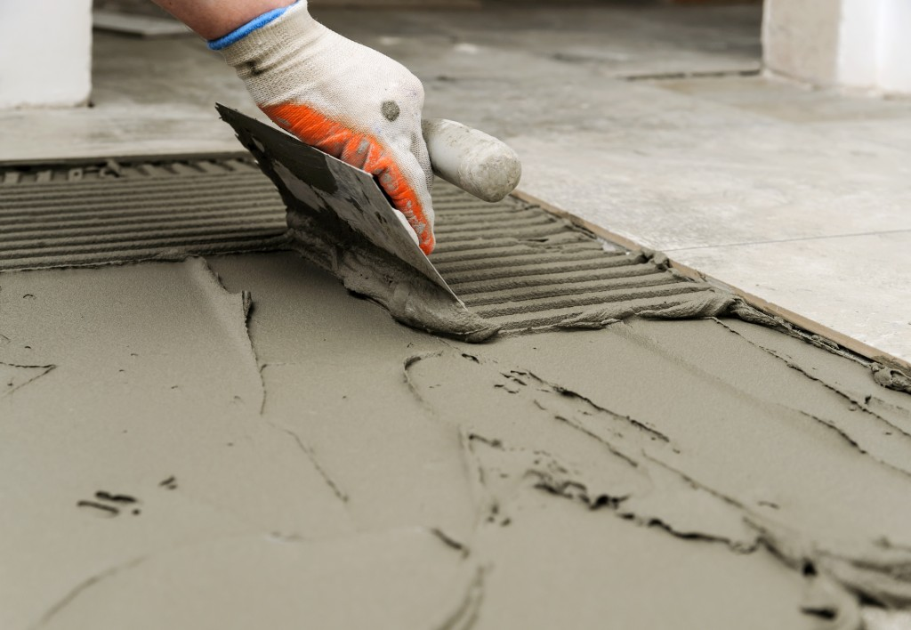 Concrete flooring construction