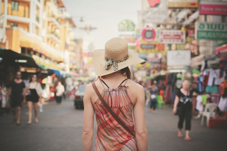 Tourist in a foreign country