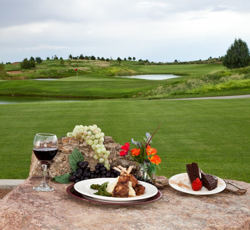 Dinner at the golf course