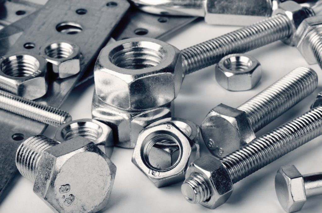 Various steel screws and bolts