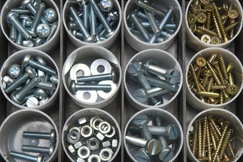 Screws and bolts organized