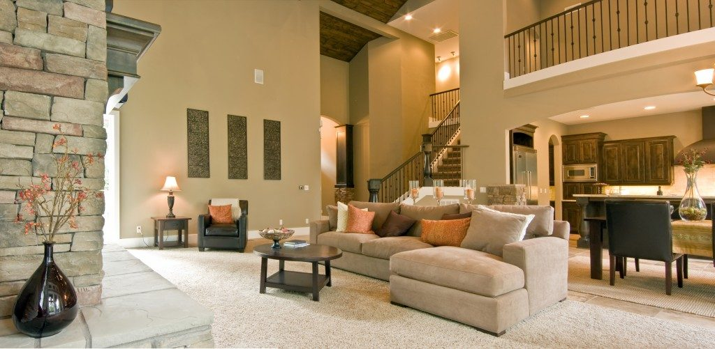 L-Shaped Living Room