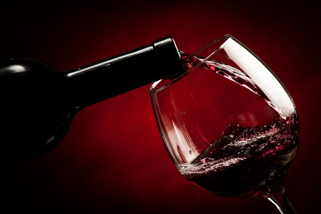 Wine being poured to a wine glass