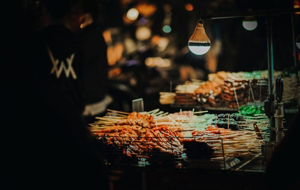 Food on display