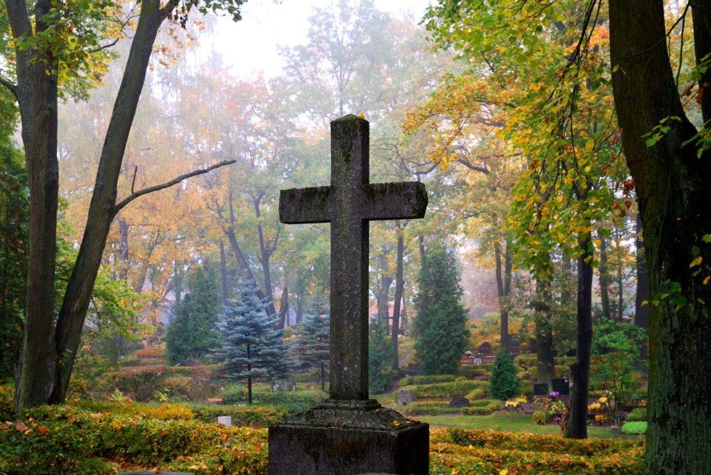 cross on the graveyard