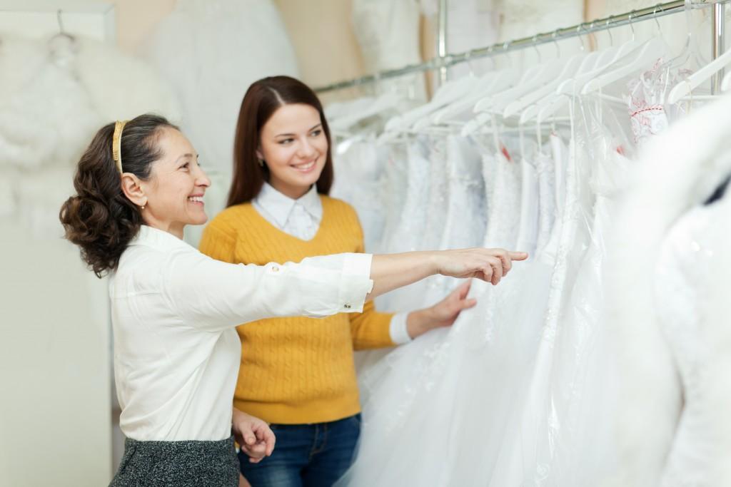 checking for wedding dress