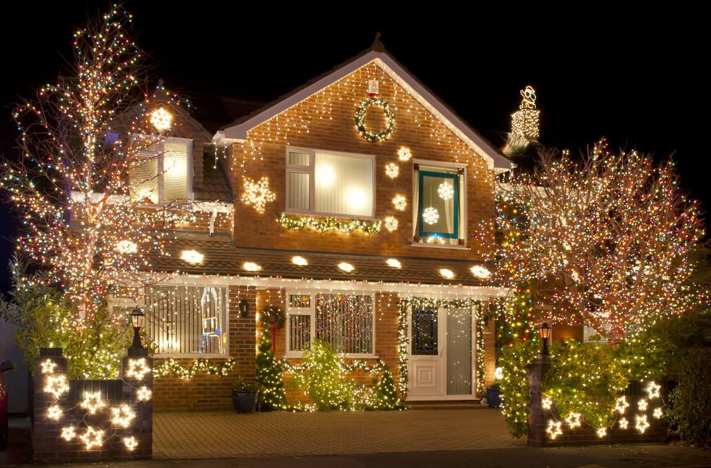 holiday themed house