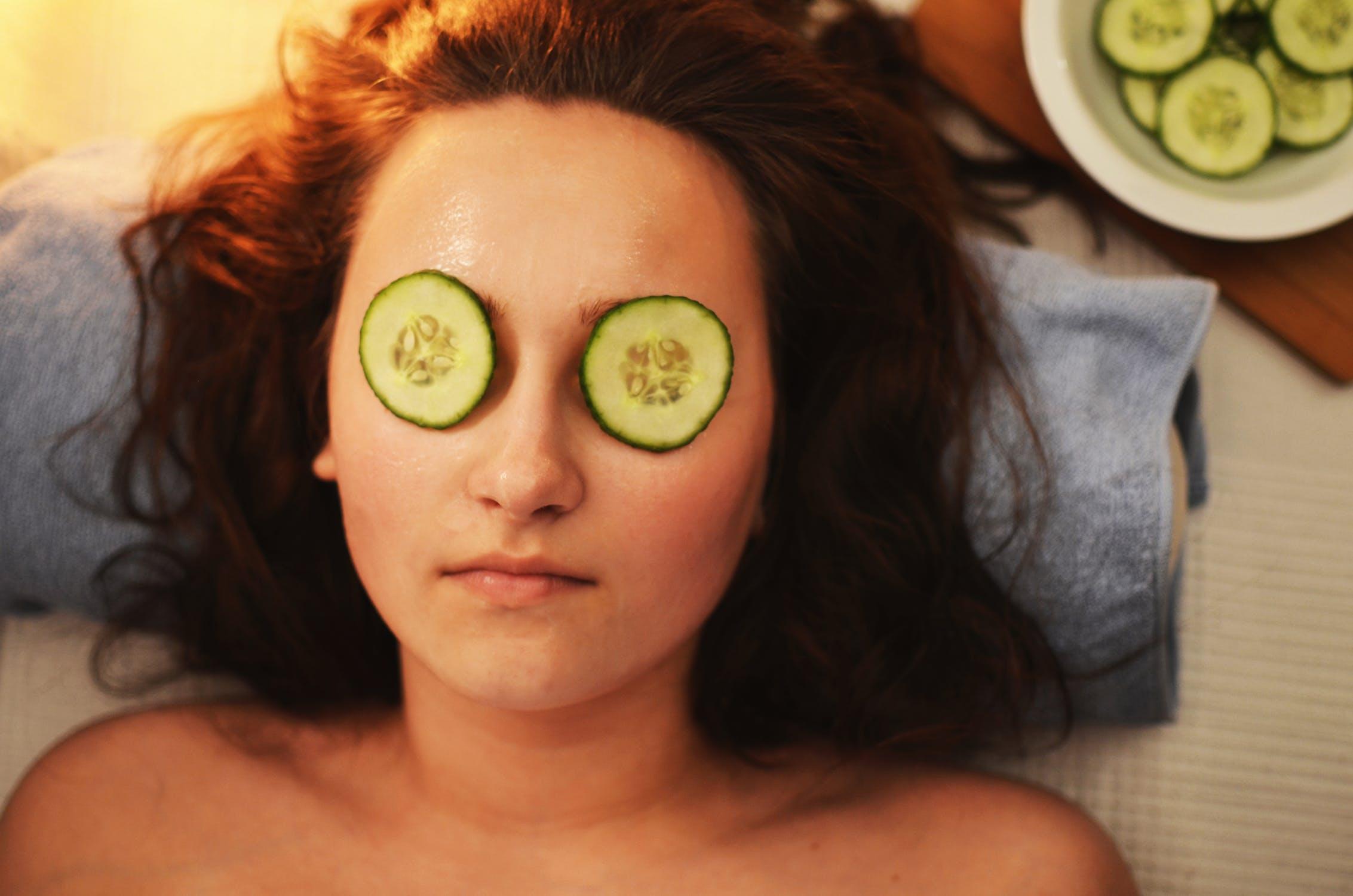 girl getting a facial