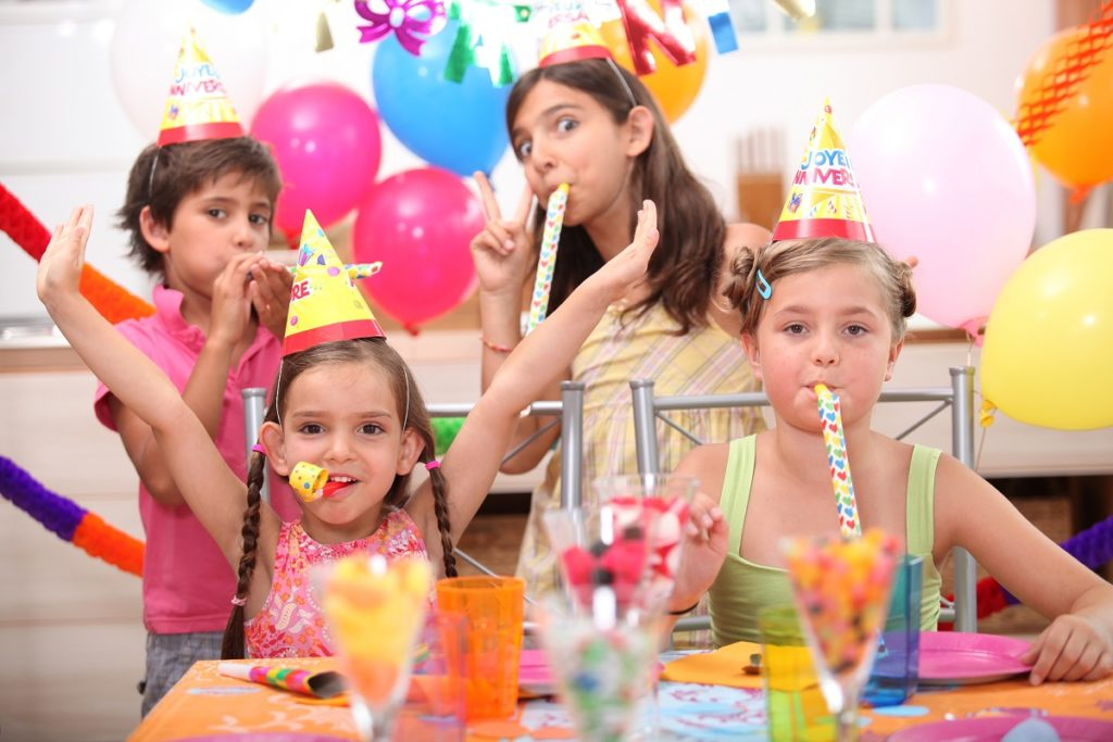 at a birthday party