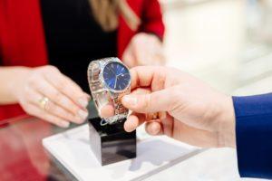 man buying a watch