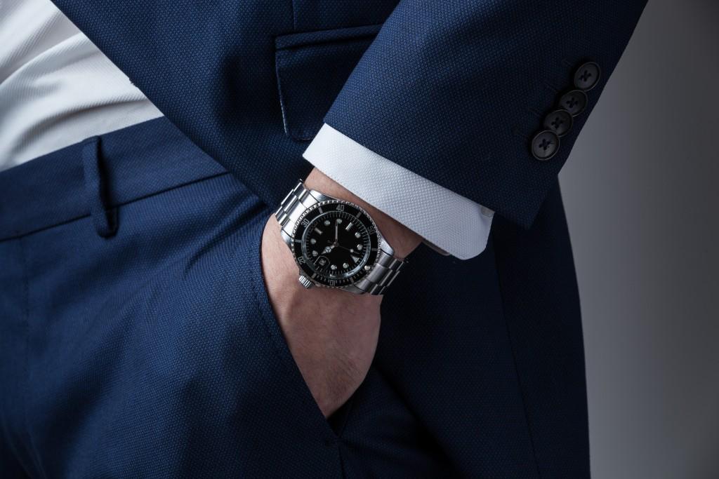 close up photo of watch on wrist