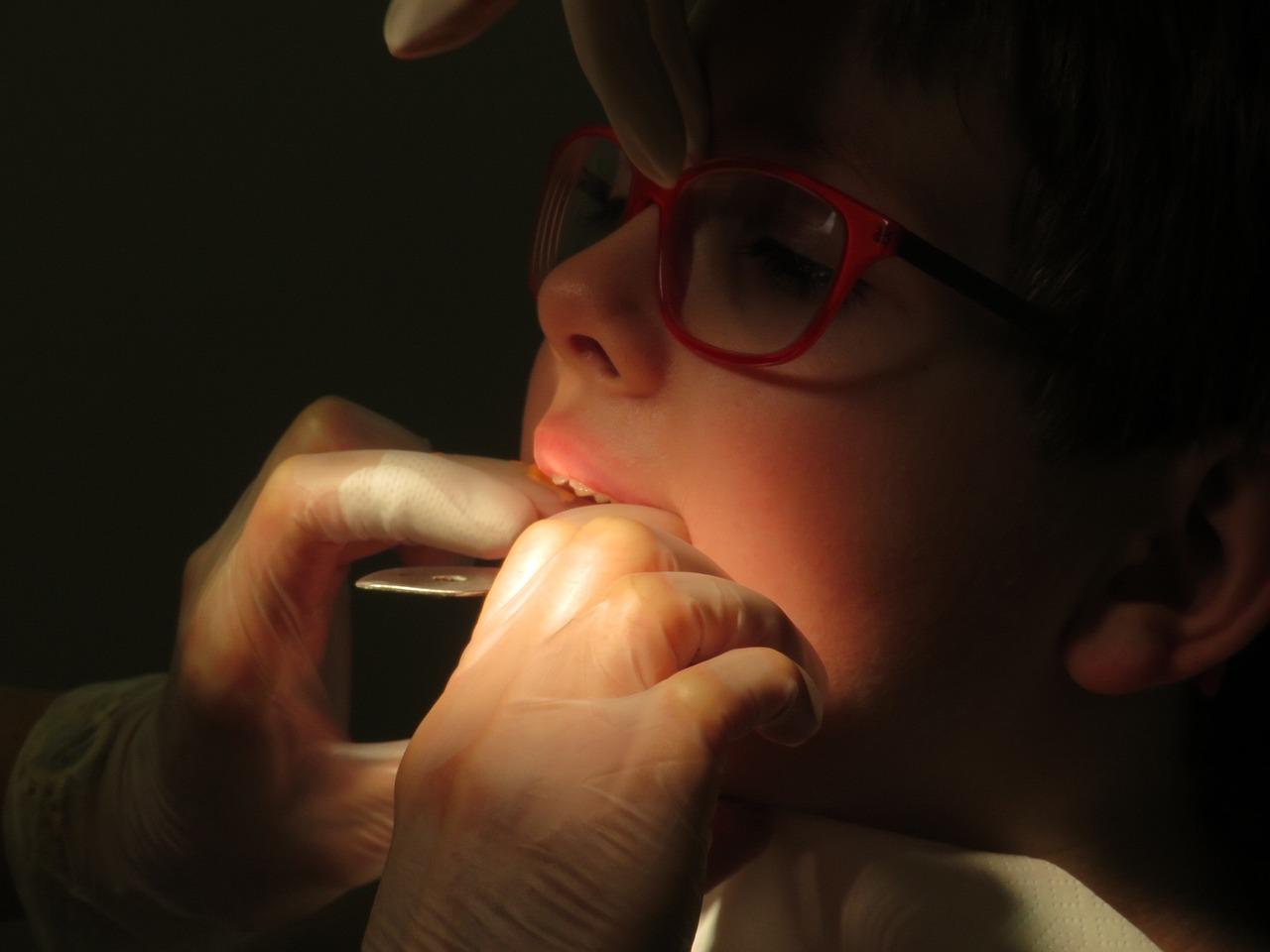 kid having a dental brace