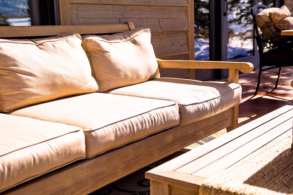 Brown outdoor sofa