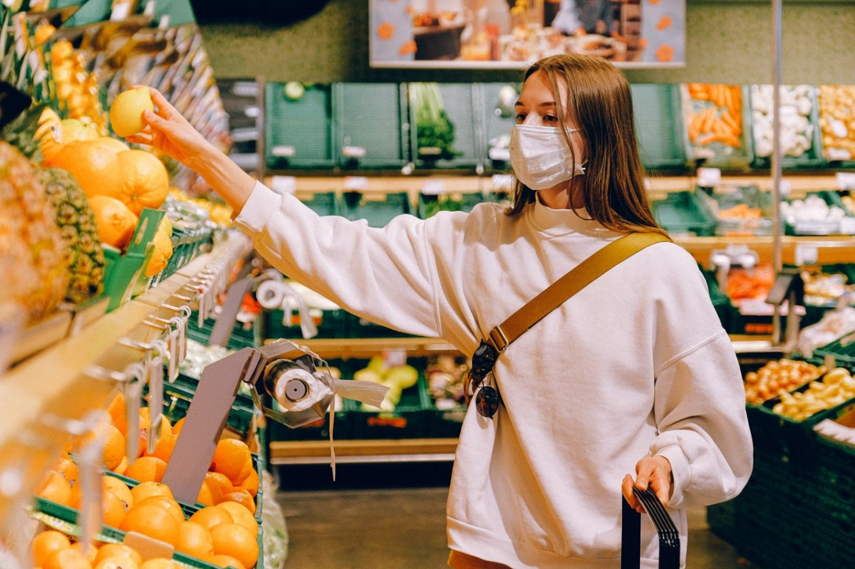 woman at a grocery store