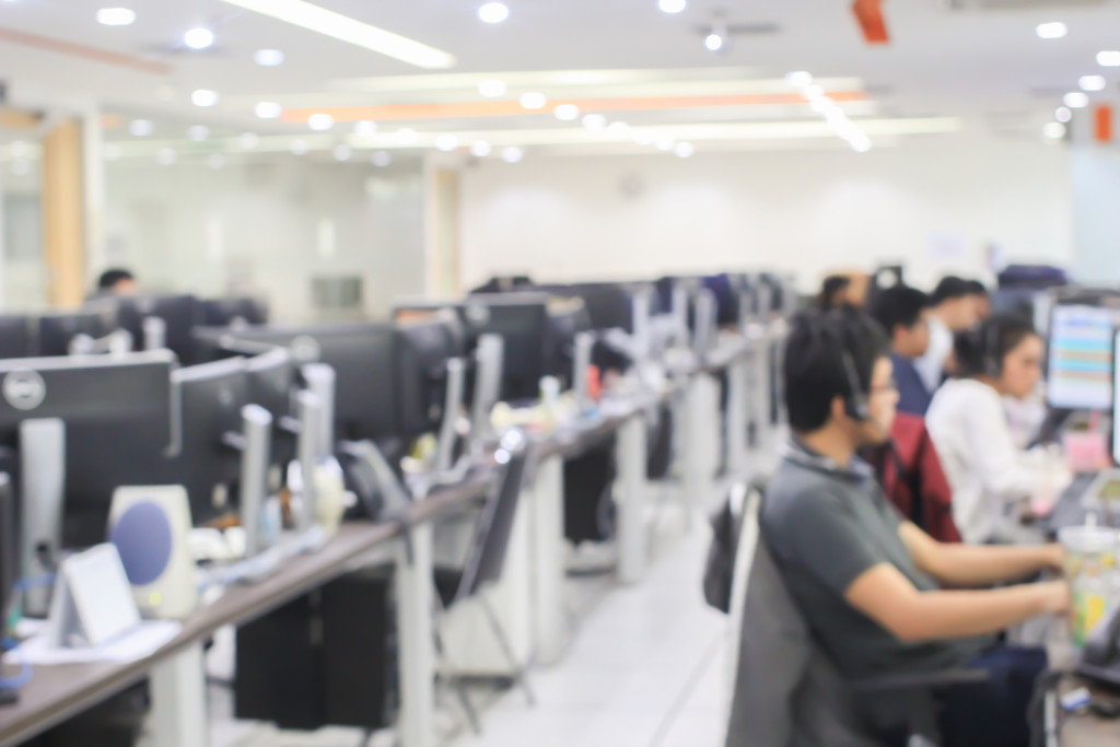 people working at a BPO company